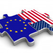 US European co-operation — Stock Photo