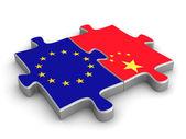 Cooperação europeia chinês — Foto Stock