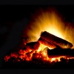 Smoldering wood fire — Stock Photo #14872123