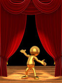 Mr Goldman - The star of the show — Stock Photo