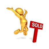 Mr Goldman - Joy at having sold — Stock Photo