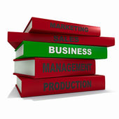 Pile of books - business — Stock Photo