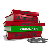 Pile de livres - arts visuels — Photo