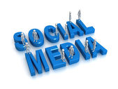 Meeting via Social Media — Stock Photo