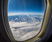 Mountains from the plane — Fotografia Stock