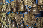 Bells in the market place — Stock Photo