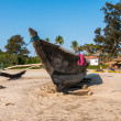 Stock Photo: Boat in Indibeach, Goa