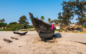 A boat in Indian beach, Goa — Stock Photo