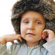 ストック写真: Pretty little boy in winter cap