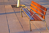 Empty seat at sunset — Stock Photo