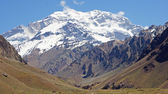 Aconcagua national parc, Andes Mountains, Argentina — Stock Photo