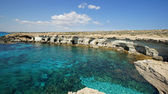 Sea Caves, Cape Greko, Agia Napa, Cyprus, Europe — Stock Photo