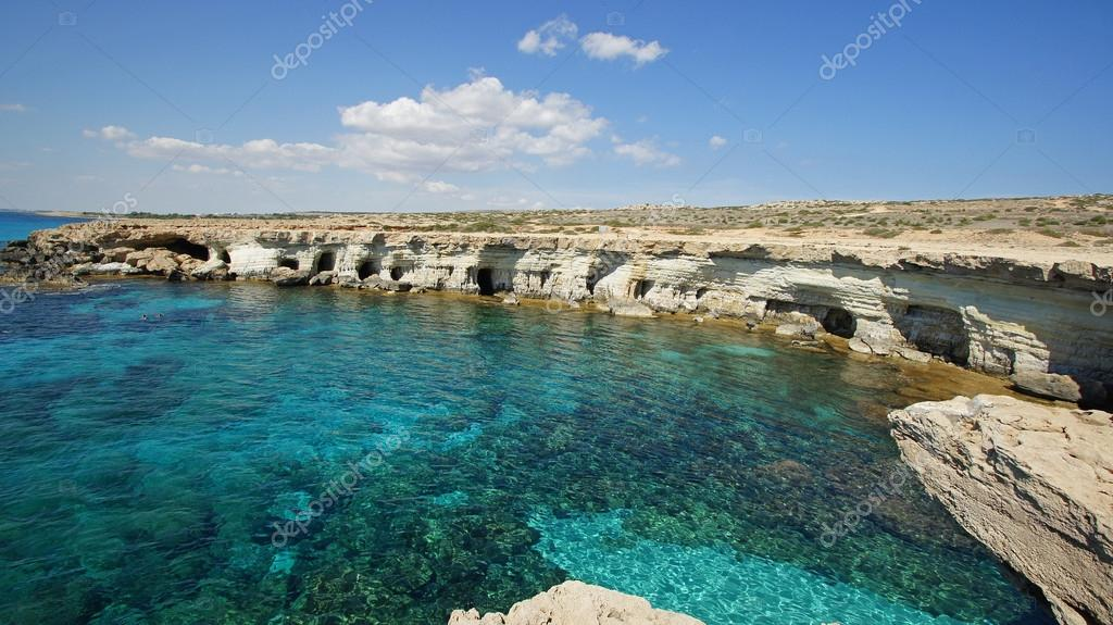 Sea Caves, Cape Greko, Agia Napa, Cyprus, Europe  Stock Photo #14880269