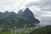 Deux Pitons, Saint Lucia, Caribbean — Stock Photo