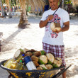 Stock Photo: Mcutting coconuts, DominicRepublic