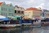 Harbor of Willemstad, Curacao, ABC Islands — 图库照片