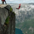 BASE jump off a cliff. — Stock Photo #14262161
