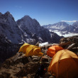 Camping in the Everest Region of Nepal - Stock Photo