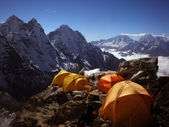 Camping in the Everest Region of Nepal — Stock Photo