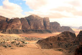 Beautiful view of the wadi rum in Jordan — Stock Photo