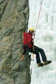 Lezení po ledopádech severní Kavkaz. — Stock fotografie