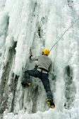 Ice climbing the North Caucasus. — Stock Photo