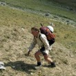 Hiker in Caucasus mountains — Stock Photo #14824421
