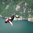 BASE jump off a cliff. — Stock Photo #14825091