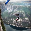BASE jump off a cliff. — Stock Photo #14825207