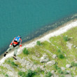 BASE jump off a cliff. — Stock Photo #14825215