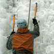 Ice climbing the North Caucasus - Foto Stock