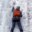 Ice climbing the North Caucasus — Stock Photo