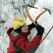 Stock Photo: Ice climbing North Caucasus