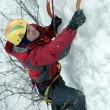 Stock Photo: Ice climbing the North Caucasus