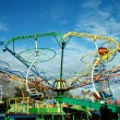 Stock Photo: Amusement park rides