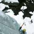 Ice climbing the North Caucasus. — ストック写真