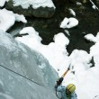 Ice climbing the North Caucasus. — 图库照片