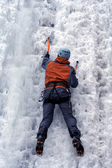 Ice climbing the North Caucasus — Stockfoto