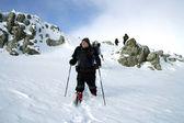 Winter hike. — Stock Photo