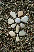 Flower made from pebbles — Stock Photo