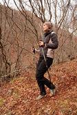 Going for a walk for an autumn Crimea. — Stock Photo