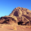 Beautiful view of the wadi rum in Jordan. — Stock Photo