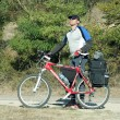 Walks on a bicycle Crimea. - Stock Photo