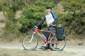 Walks on a bicycle Crimea. — 图库照片