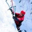 Ice climbing the North Caucasus. — Stock Photo #16268459