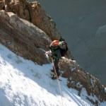 Ice climbing the waterfall. — Stock Photo #16833055