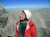 Winter hiking. — Stock Photo