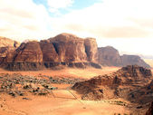 Wadi rum desert from the big red dune — Stock Photo