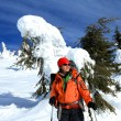 Winter hiking in snowshoes. — Stock Photo #17160735