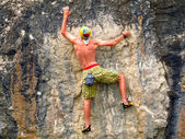 Rock climber. — Stock Photo